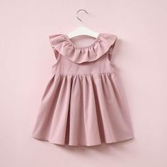 Hurave Summer 2017 New Casual Style Fashion Fly Sleeve Girls Bow Dress Girl Clothing For Children Cute Dresses - Kid Shop Global - Kids & Baby Shop Online - baby & kids clothing, toys for baby & kid Low Back Dresses, Cute Dresses, Bow Dresses, Peasant Dresses, Backless Dresses, Sleeveless Dresses, Strapless Dress, Baby Girl Fashion, Fashion Kids