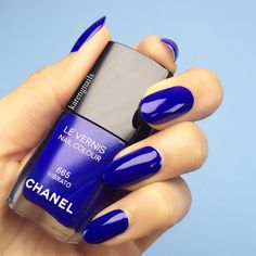 I'm obsessed with this color CHANEL #nails in 'Vibrato' nail lacquer by #Chanel #karengnails