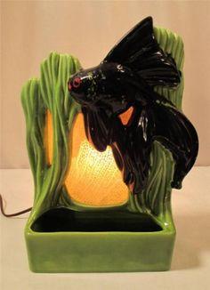 RARE Vintage Royal Haeger Angel Fish TV Lamp Planter Mid Century Modern 1950s | eBay