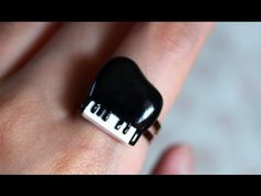 ▶ DIY: Cute Piano Ring {Stop Motion Tutorial} Polymer Clay - YouTube