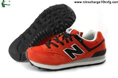 2013 New Balance NB ML574 retro lovers For Men shoes Tomato red Black Shoes Shop