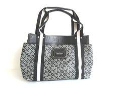 Tommy Hilfiger Small Iconic Satchel Handbag, Black/Alpaca $69.98