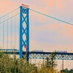 The Ambassador Bridge takes you into Windsor Canada.