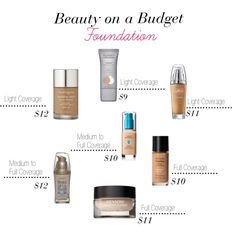 Beauty on a Budget: Foundation by lovelybdavis, via Polyvore