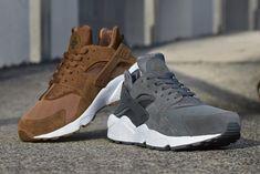 Nike Air Huarache Umber Brown & Dark Grey: seasonal hype | FREE Global Sneaker Shipping | CrookedTongues.com — Selling soles since 2000