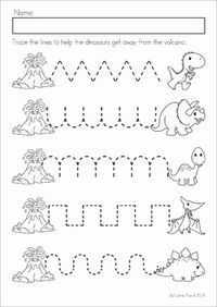 Dinosaur Preschool No Prep Worksheets Activities Distance