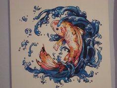 Bathroom Prints, Mothers Day Presents, Tea Pot Set, Art Things, Pattern Names, Goldfish, Starfish, Koi, Octopus