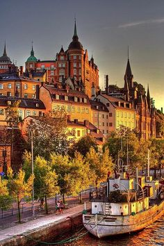 Stockholm, Sweden in the soft glow of late afternoon.  Loved Sweden!  ASPEN CREEK TRAVEL - karen@aspenceeektravel.com