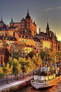 Stockholm, Sweden in the soft glow of late afternoon.  Loved Sweden!  ASPEN CREEK TRAVEL - karen@aspenceeektravel.com