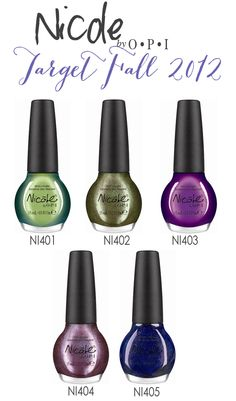 Pretty greens n purples in this collection...  Nicole OPI Nail Polish, Target Exclusives-- my kind of fall colors!