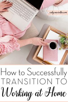 Working at home has many benefits, but it also brings unique challenges. I'm sharing my favorite tips on how to successfully transition to working at home. Build Your Brand, Creating A Brand, Business Tips, Online Business, Effective Time Management, Home Office Organization, Growing Your Business, Way To Make Money, Brand You