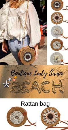 beach | beachoutfit | dresses | ratan bag | rattan bag | ratang bag | summer bag | swimsuim Beach Accessories, Cloth Bags, Dress Outfits, Dresses, Rattan, Straw Bag, Hand Weaving, Shoulder Bag, Boutique