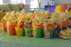Favors at a Bubble Guppies Party #bubbleguppies #partyfavors