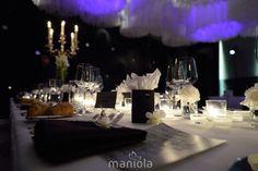 Candles, Table Decorations, Black And White, Wedding, Design, Home Decor, Valentines Day Weddings, Homemade Home Decor, Blanco Y Negro