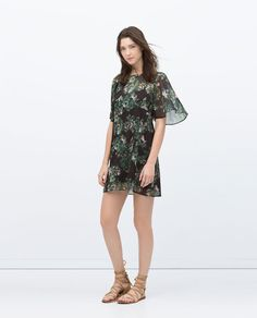 Image 1 of FLORAL PRINT TUNIC from Zara