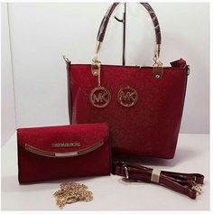 a1968004b727 Red MICHAEL KORS High Quality 2 IN 1 Women Bag Set. Bvlgari Handbags