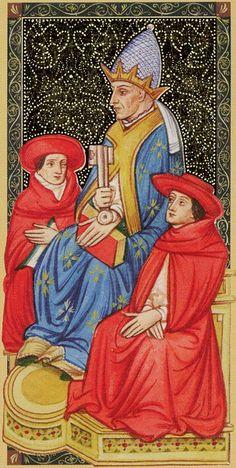 V - Le pape - Golden Tarot of Renaissance par Giordano Berti & Jo Dworkin