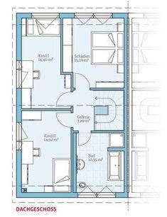 Grundriss-DG, Energiesparhaus Doppelhaus 25-125, 62,15 m²