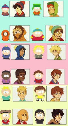 South Park Funny, Kenny South Park, South Park Memes, Creek South Park, South Park Anime, South Park Fanart, South Park Characters, Tweek And Craig, Person Drawing