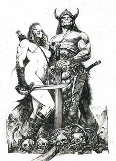 High Fantasy, Medieval Fantasy, Dark Fantasy Art, Fantasy Artwork, Comic Books Art, Comic Art, Robert E Howard, Character Art, Character Design