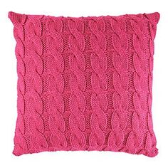F Home Pink Cable Knit Cushion