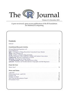 The R-Journal, an electronic publication which gathers research on the uses and applications of the R Statistical language.
