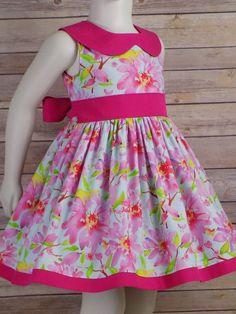 Girls Spring Dresses, Girls Easter Dresses, Little Girl Dresses, Baby Dresses, Peasant Dresses, Dress Girl, Gown Dress, Dress Summer, Cotton Dresses