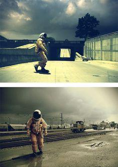 Surreal Astronaut Photos by Bernard Bailly | Inspiration Grid | Design Inspiration