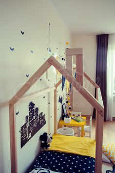 Boys room, toddler bed, house bed, tent bed, children bed, wooden house, wood house, wood nursery, kids teepee bed, wood bed frame, wood house bed