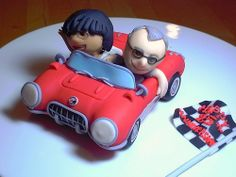 Fondant Corvette cake topper by bittle, via Flickr