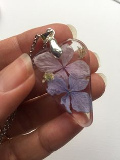 Merchandise Mauve Flower Rosin Necklace with Hydranga petals Plus Dimension Marriage ceremony Attire Handmade Necklaces, Handmade Items, Handmade Gifts, Clear Resin, Stainless Steel Chain, Dried Flowers, Necklace Lengths, Mauve, Jewelry Collection