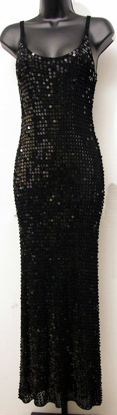 """$34.00 - Size: Large - """"Betsy Johnson"""" - Full Length - Sequin - Sexy - Gown - FABULOUS"""