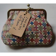 Jenny - Vintage Silk clasp frame purse, Clutch, Make-up Bag £30.00