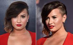 Os 23 cabelos mais marcantes da Demi Lovato  17. Chanel + sidecut + pontas loiras. Demi divou no Video Music Awards 2014: sim ou claro?