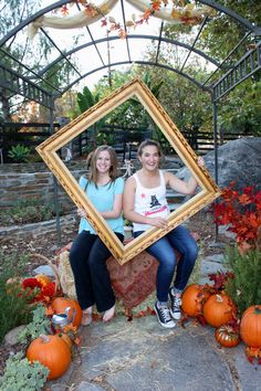"Preparing a ""photo booth"" for a fall themed wedding!"