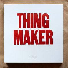 Image of THING MAKER Poster