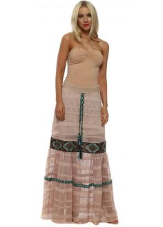 a37866e9d1e6 Jupe Gingle Pink Mesh Maxi Skirt Absolutely Stunning