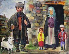 Сельский двор. Автор: Lado Tevdoradze.