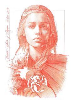 Game of Thrones - Daenerys Targaryen by Mark Raats *