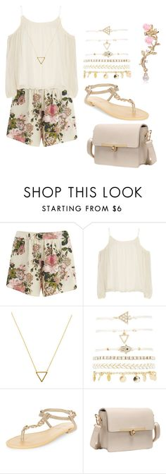 """Good Morning"" by walkeralexzandreia ❤ liked on Polyvore featuring VILA, Elizabeth and James, Wanderlust + Co, Charlotte Russe and New Look"