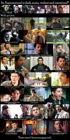 Supernatural - these aren't from any gag reel - actual scenes!