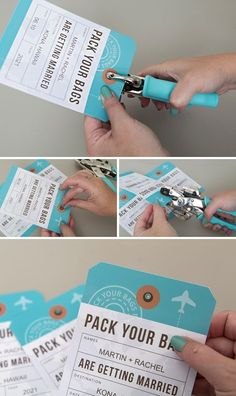 These DIY Destination Wedding Save the Date Luggage Tags Are The Cutest! - These DIY Destination Wedding Save the Date Luggage Tags Are The Cutest! These DIY Destination Wedding Save the Date Luggage Tags Are The Cutest! Destination Wedding Save The Dates, Destination Wedding Invitations, Budget Wedding, Wedding Stationery, Wedding Planner, Destination Weddings, Wedding Ideas, Wedding Destinations, Passport Invitations