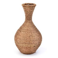 Seagrass Vase | Kirkland's  can make this with hot glur and jute string