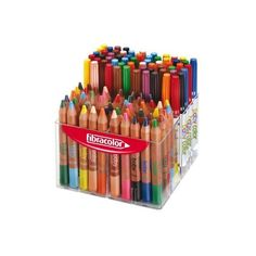 Fibracolor Baby Colouring Pens, Coloured Pencils Wax Crayons Multibox... ($92) ❤ liked on Polyvore featuring filler