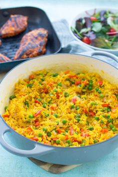 Want to make Nandos Spicy Rice at home? Then this Homemade Nandos Spicy Rice recipe is for you! And the best news? It only takes 20 minutes… and one pan! Vegetarian Rice Recipes, Easy Rice Recipes, Side Dish Recipes, Vegan Food, Rice Side Dishes, Side Dishes Easy, Food Dishes, Pasta Dishes, Chicken Spices