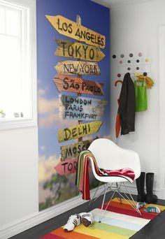 Behangpaneel: Signpole what is your destination