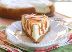 Vanilla Cheesecake with Salted Caramel - Recipe for the crust, cheesecake, whipped cream and salted caramel @tablespoon.com