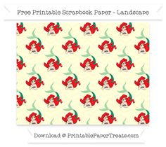 FreeCream Chevron Large Ariel Pattern Paper - The Little Mermaid