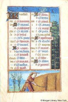 July - Book of Hours - France, Paris, ca. 1500 - MS M.197 fol. 4r