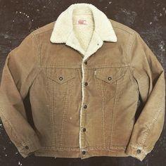 70's corduroy Levi's Sherpa jacket